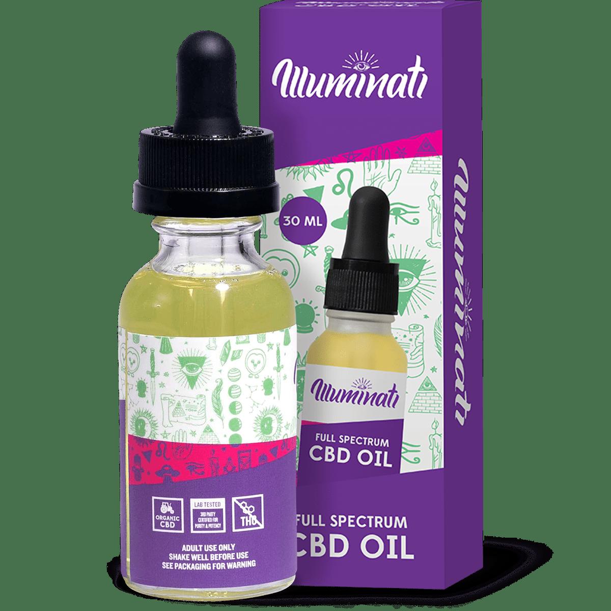 Illuminati Full Spectrum CBD Oil Drops 50mg Back