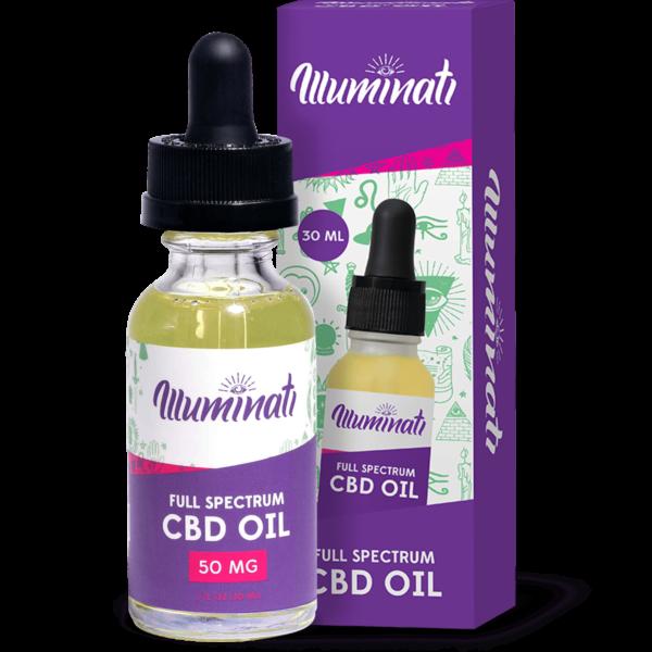 Illuminati Full Spectrum CBD Oil Drops 50mg Front
