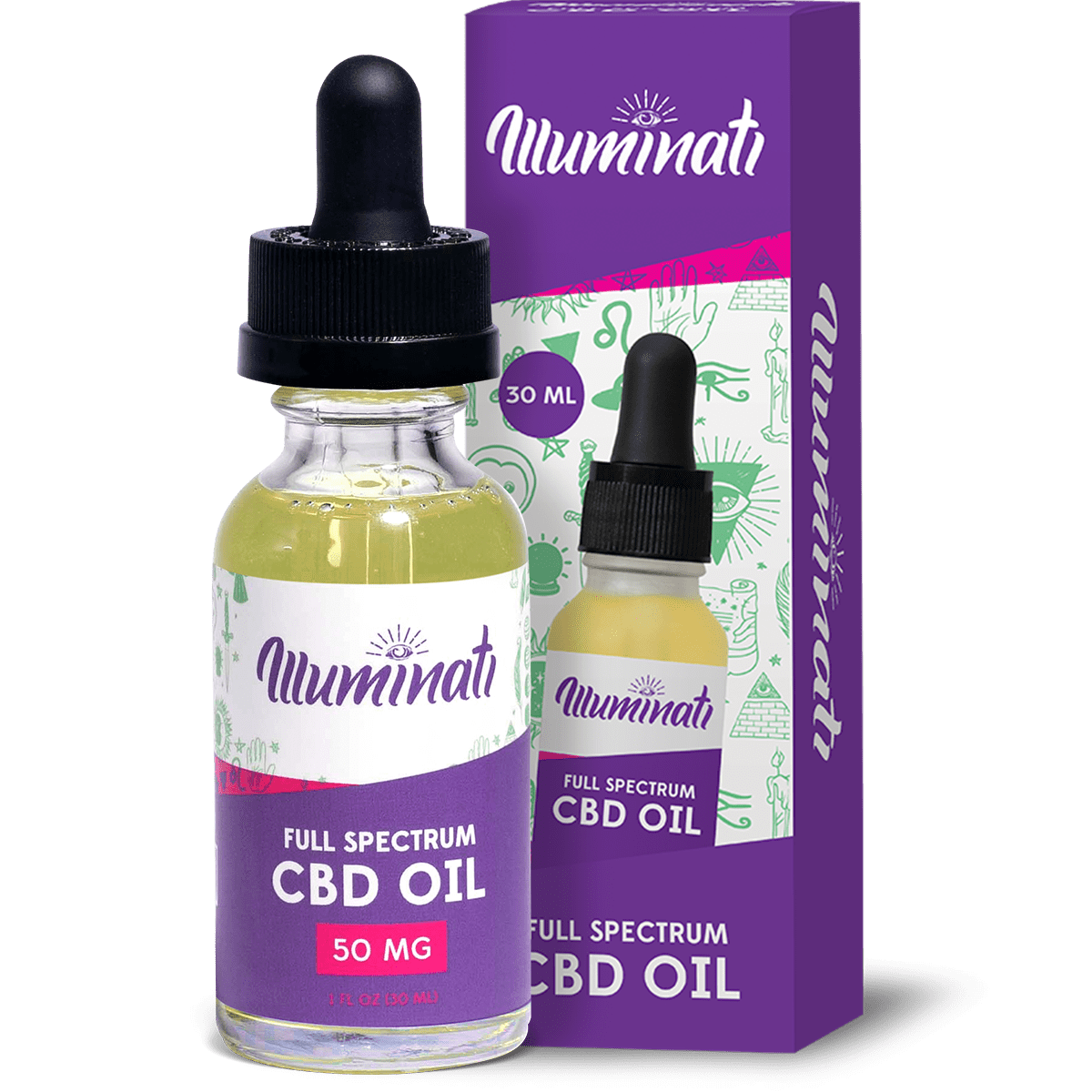 Illuminati CBD Oil Drops 50mg