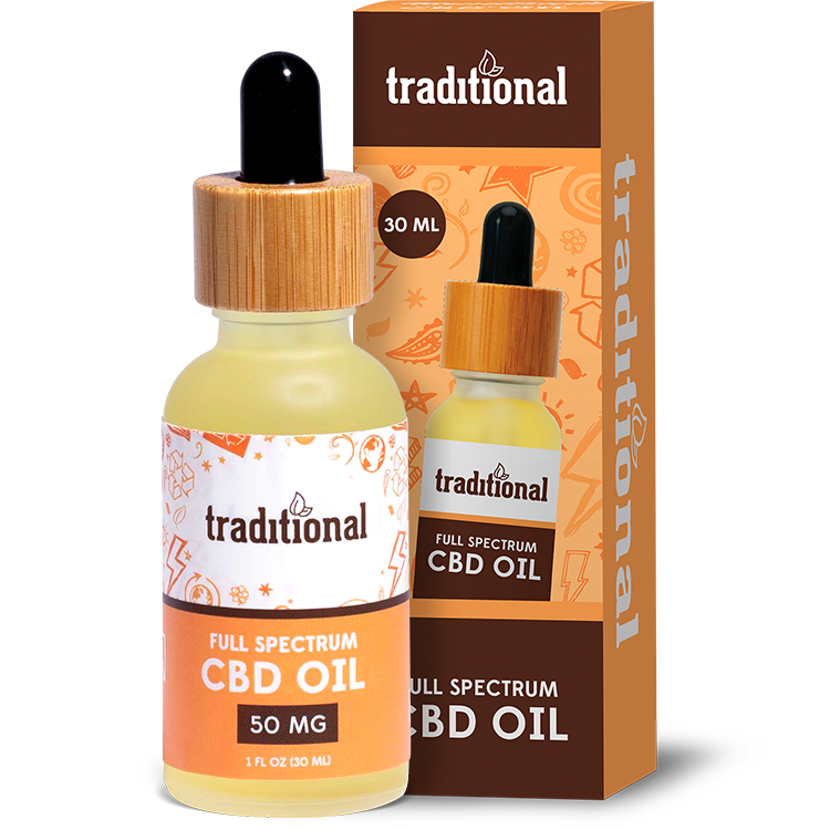Traditional CBD Oil Drops 50mg