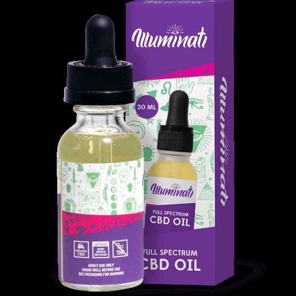 Illuminati Full Spectrum CBD Oil Drops 25mg Back