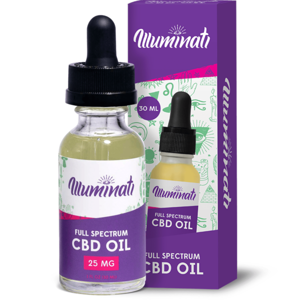 Illuminati Full Spectrum CBD Oil Drops 25mg Front