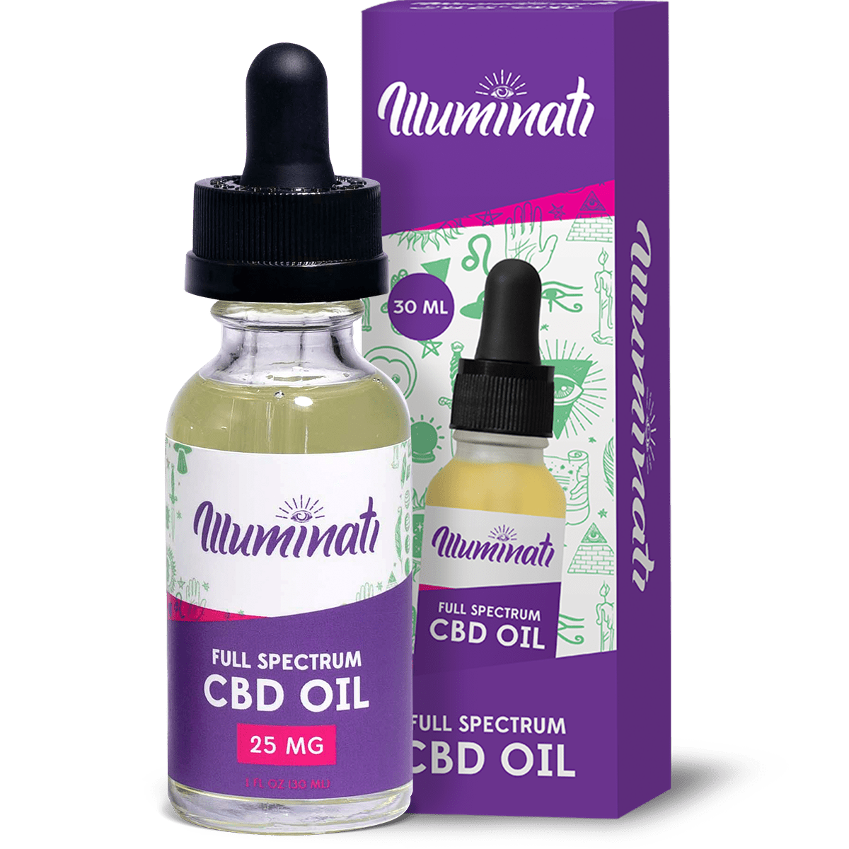 Illuminati Full Spectrum CBD Oil Drops 25mg Front