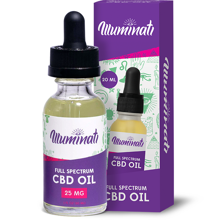 Illuminati CBD Oil Drops 25mg
