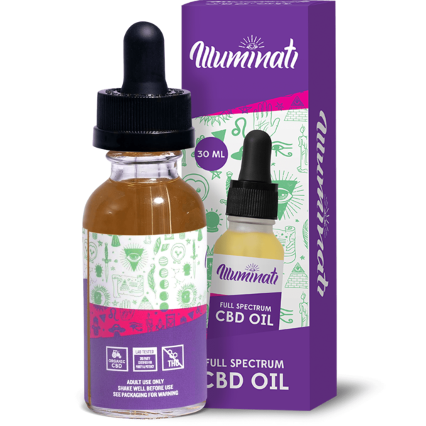 Illuminati Full Spectrum CBD Oil Drops 750mg Back