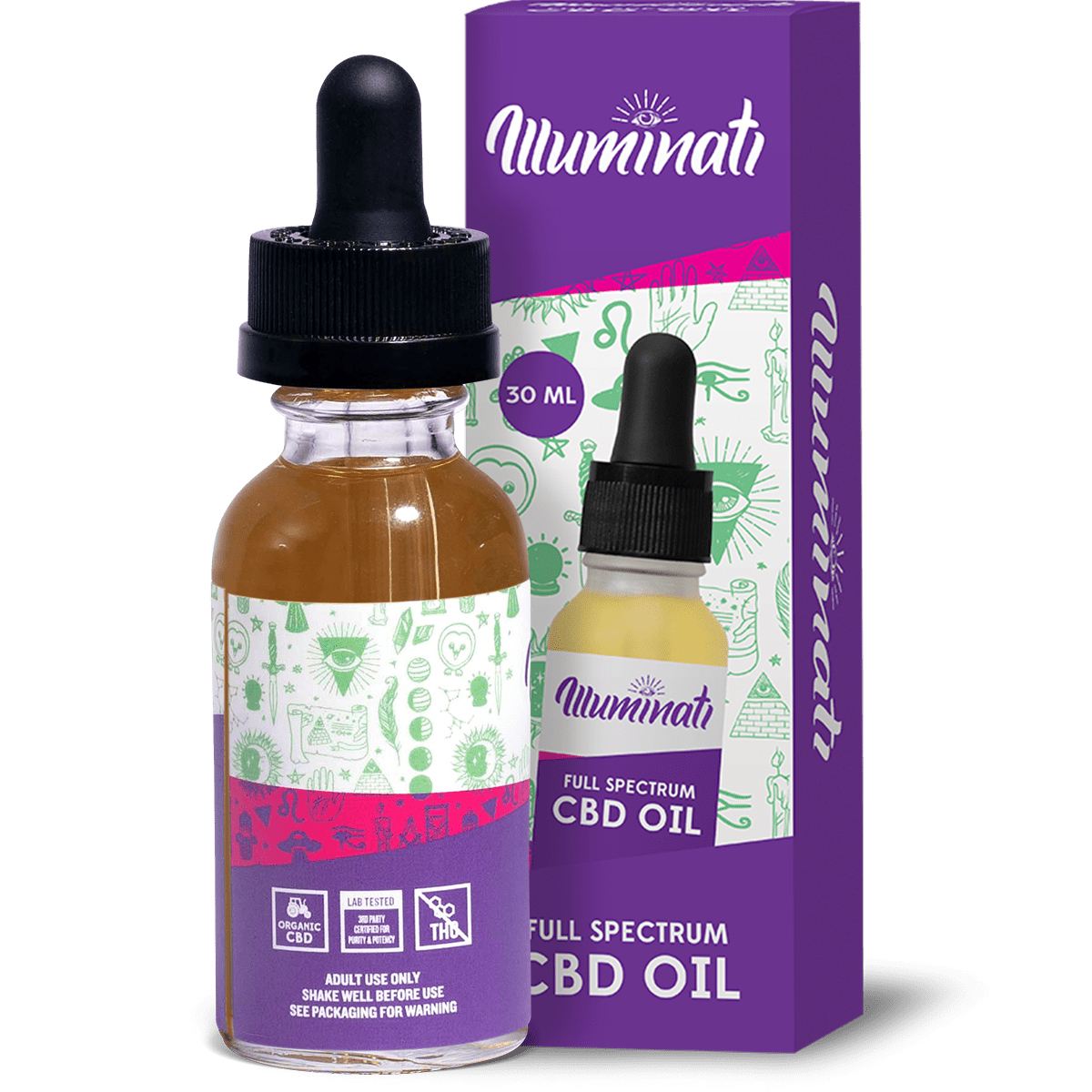 Illuminati Full Spectrum CBD Oil Drops 750mg Back