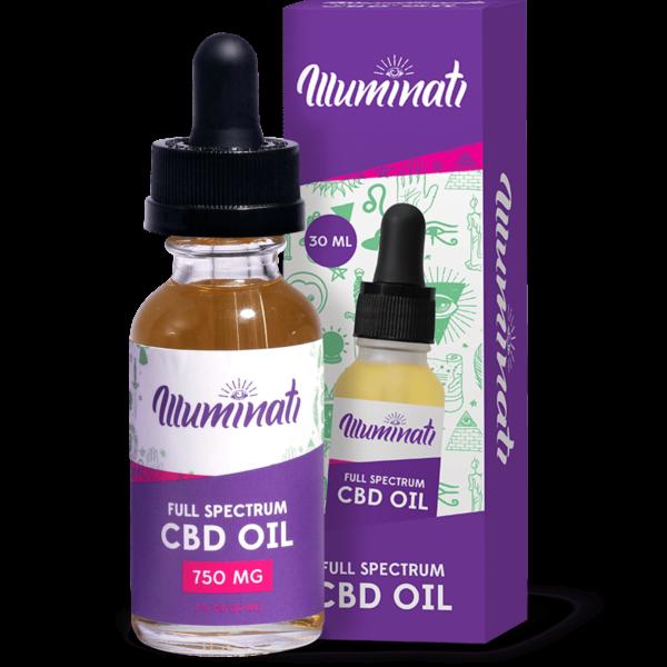 Illuminati Full Spectrum CBD Oil Drops 750mg Front