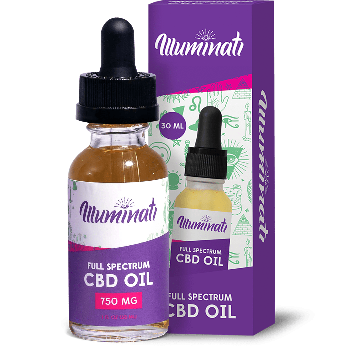 Illuminati Full Spectrum CBD Oil Drops 750mg Front