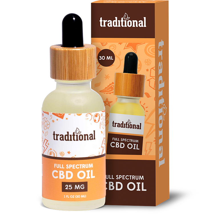 Traditional CBD Oil Drops 25mg
