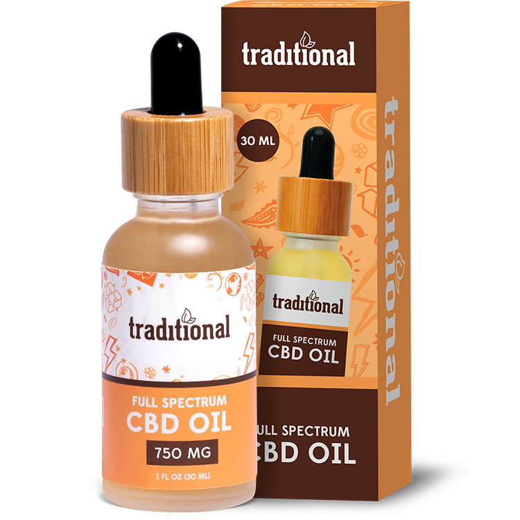 Traditional CBD Oil Drops 750mg