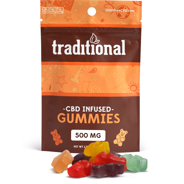 Traditional CBD Gummy Bears 500mg