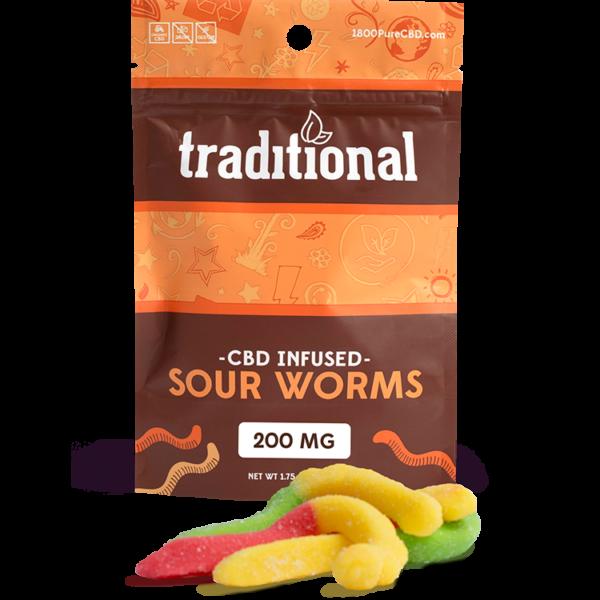 Traditional CBD Sour Worms 200mg