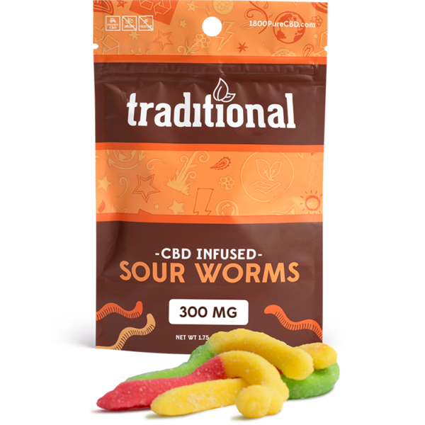 Traditional CBD Sour Worms 300mg