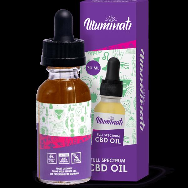Illuminati Full Spectrum CBD Oil Drops 3000mg Back