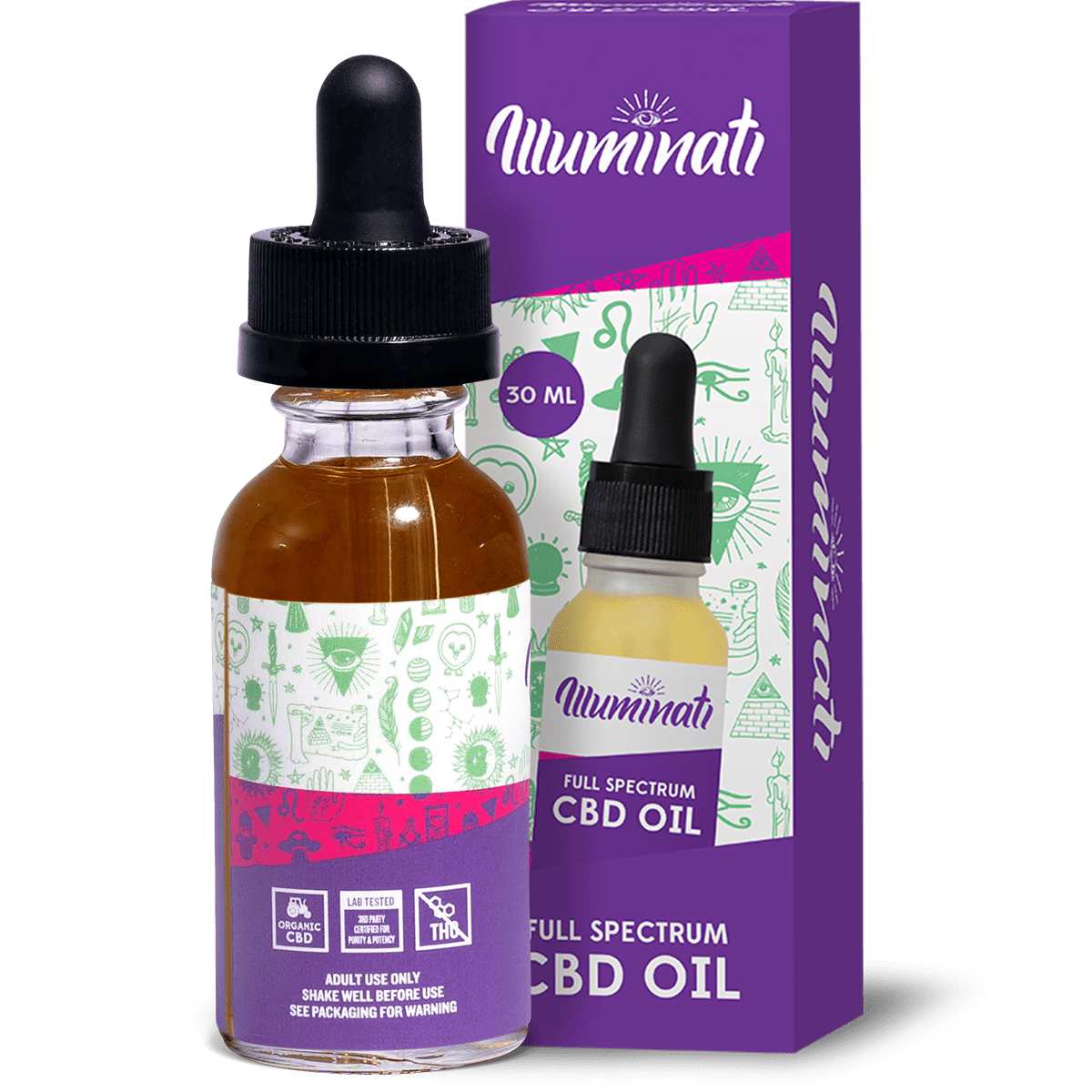Illuminati Full Spectrum CBD Oil Drops 3000mg Back