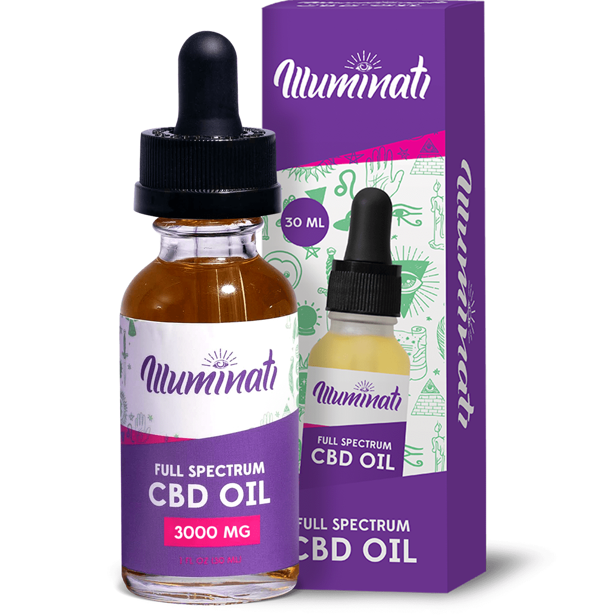 Illuminati CBD Oil Drops 3000mg