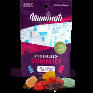 Illuminati Delta-8-THC Gummy Bears 300mg