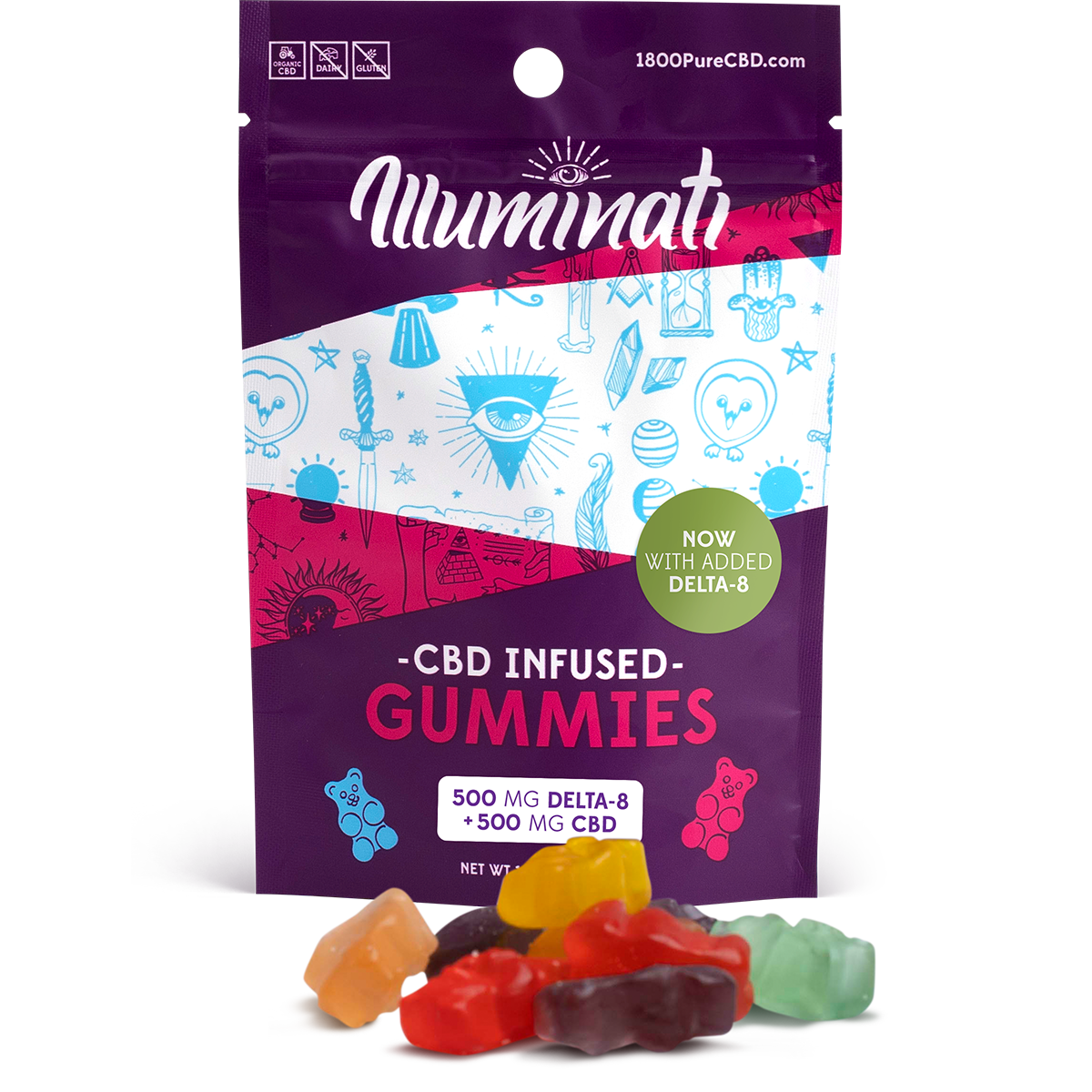 Delta-8-THC Illuminati gummies 500mg