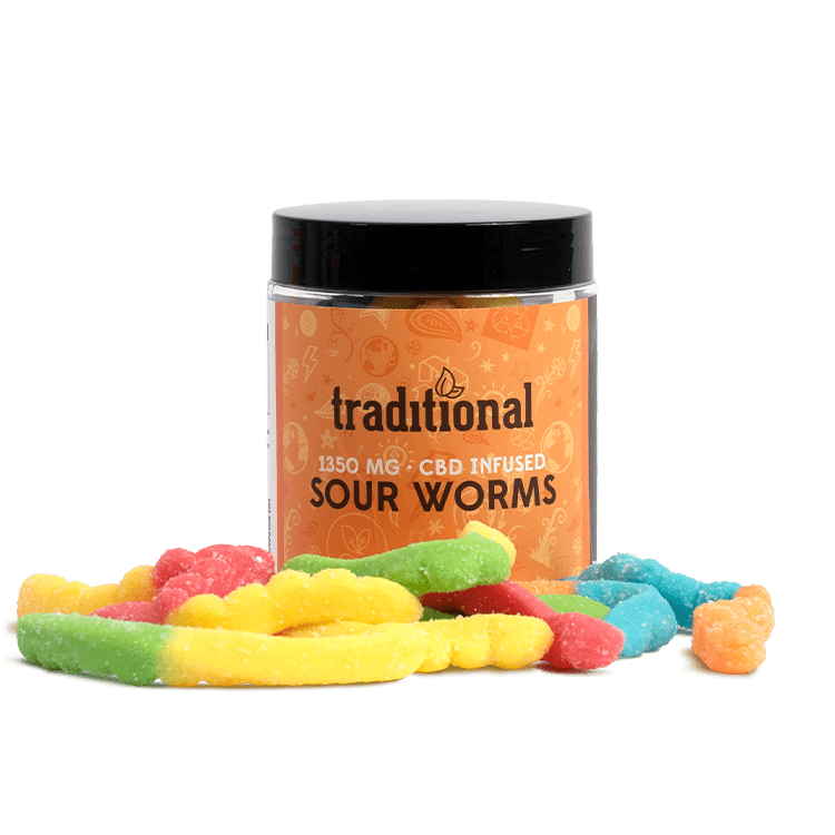 Traditional CBD Sour Worms 1350mg
