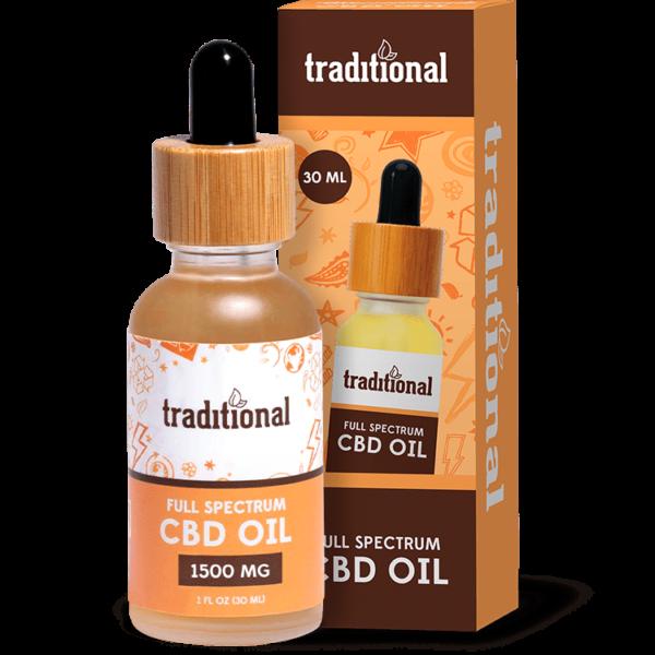 Traditional CBD 1500mg oil drops