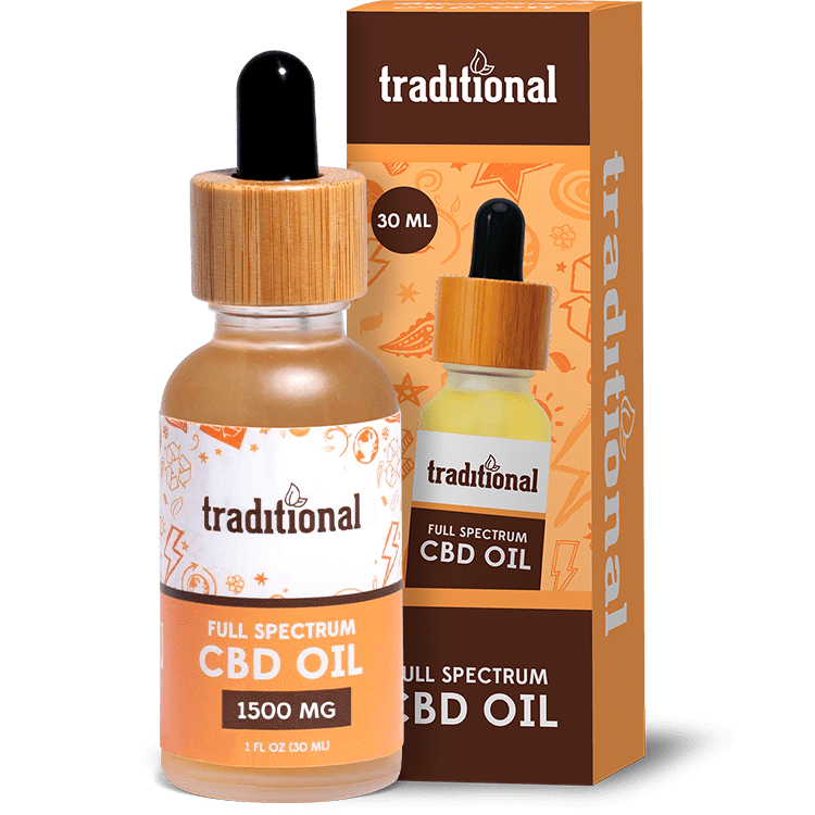 Traditional CBD Oil Drops 1500mg