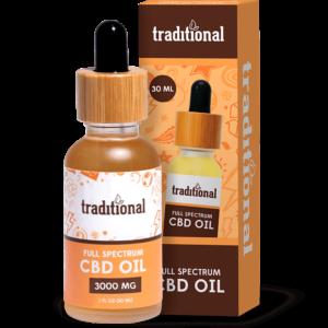 Traditional CBD Oil Drops 3000mg