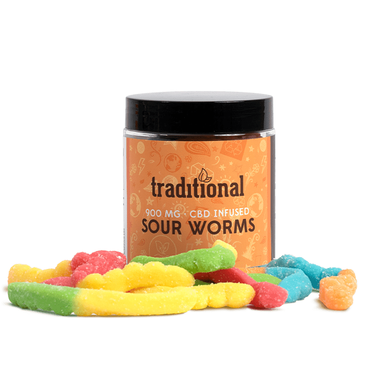 Traditional CBD Sour Worms 900mg