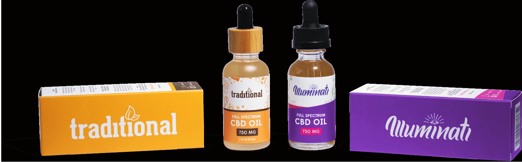 Pure CBD Oils Display