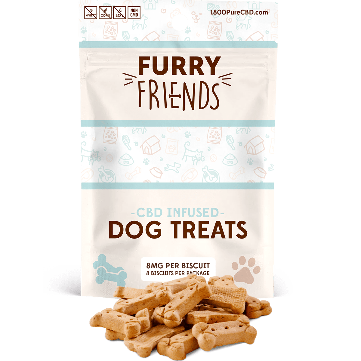 Furry Friends Dog Treats 8mg