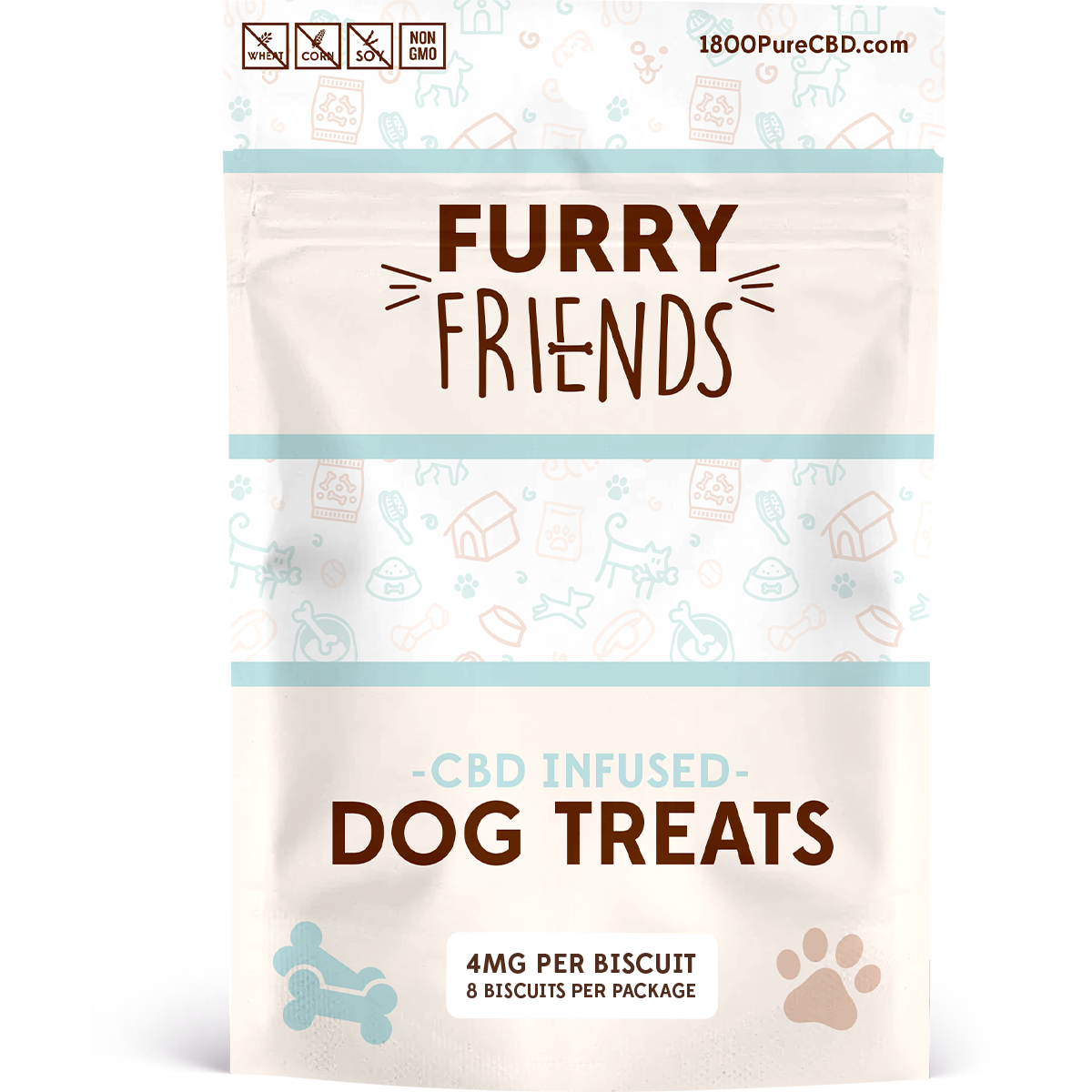 Furry Friends CBD Dog Treats 4mg front