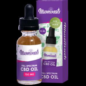 Illuminati Delta 8 THC Oil Drops 1350mg + CBD 1500mg