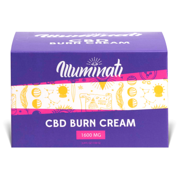 Illuminati CBD Burn Care Cream Box