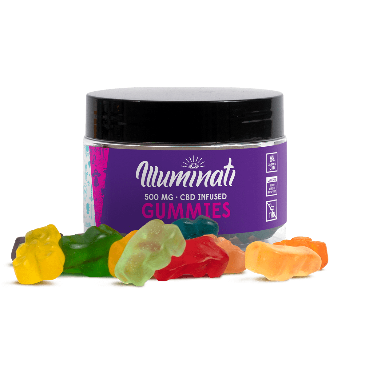 Illuminati CBD Gummy Bears 500mg Jar