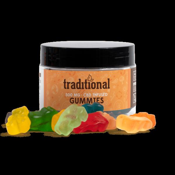 Traditional CBD Gummy Bears 500mg Jar