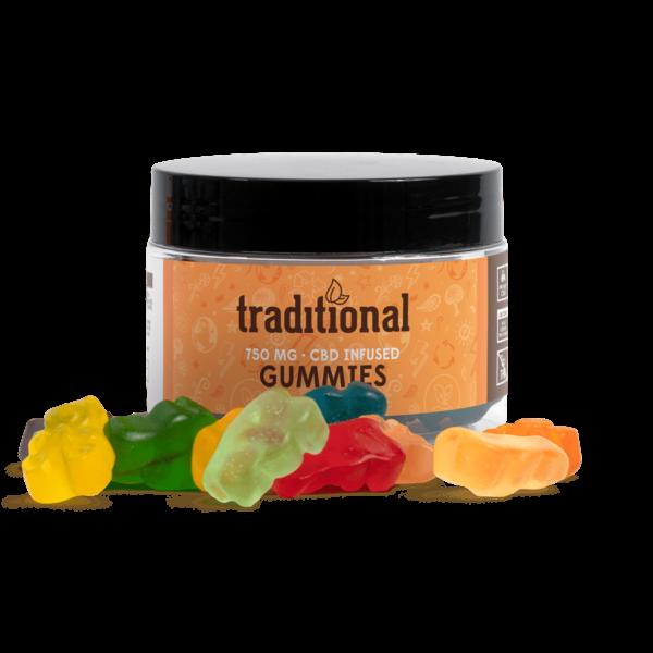 Traditional CBD Gummy Bears 750mg Jar