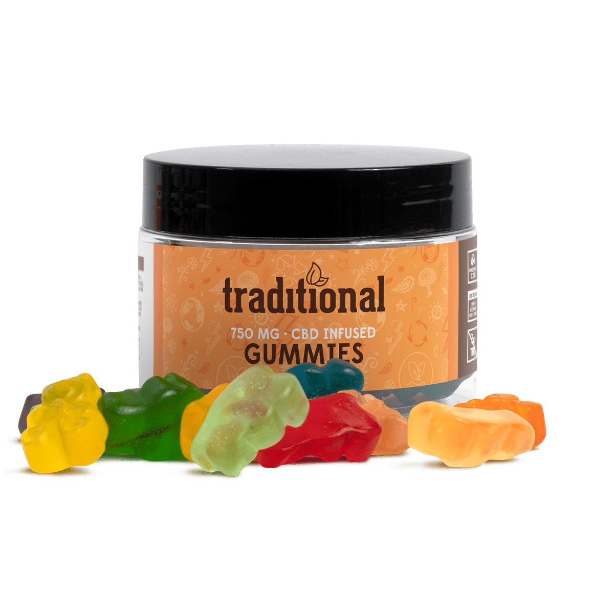 Traditional CBD Gummy Bears 750mg